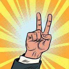 The Hand Gesture of Victory - Concepts Business Download here : https://graphicriver.net/item/the-hand-gesture-of-victory/19408942?s_rank=29&ref=Al-fatih