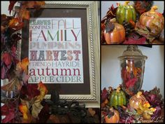 My Crazy Beautiful Life....: A little more fall decor!!