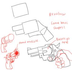 How to draw guns by kelpls.tumblr.com