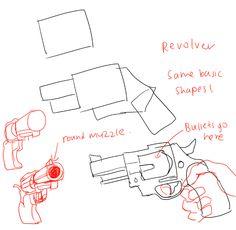How to draw guns by kelpls.tumblr.com