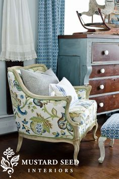 Love this chair! @Miss Mustard Seed