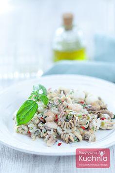 #risotto z owocami morza - #przepis z filmem krok po kroku  http://pozytywnakuchnia.pl/risotto-z-owocami-morza/  #kuchnia #obiad
