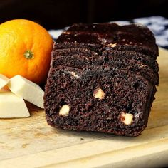 Chocolate Orange Banana Bread with White Chocolate Chunks - a dark, rich, fragrant, super moist loaf cake with creamy nuggets of white chocolate interspersed throughout...