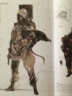 Concept art Snake by Yoji Shinkawa