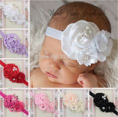 Elastic Headbands with pearl  flower baby girl hair accessories infant rose flower hairbands headwear #>=#>=#>=#>=#> Click on the pin to check out discount price, color, size, shipping, etc. Save and like it!