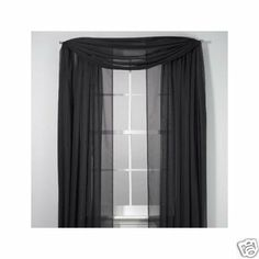 "SET OF 2, 84"" LONG BLACK SHEER VOILE CURTAINS / TAILORED CURTAIN PANELS, 60"" WIDE by Orly's Dream. $4.25. 2 Black color panels Voile/Sheer fabric. 2 Sheer curtains. Each one is 60"" wide x 84"" long. Rod pocket top. 100% polyester. Machine washable."
