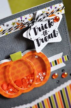 Make adorable pumpkin and Halloween shaker cards the easy way!