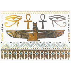 COKOHAPPY Metallic Temporary Tattoo , Egyptian Cleopatra Ankh Cross Eye of Horus Fake Jewelry Gold Silver ** Click image for more details. (This is an affiliate link and I receive a commission for the sales) Makeup Vault, Egyptian Tattoo, Tattoo Kits, Eye Of Horus, Baby Oil, Diy Makeup, Cleopatra, Temporary Tattoos, Best Makeup Products