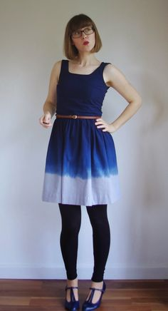 Andrea's dip dyed Lilou dress