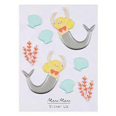 Puffy Mermaid Stickers
