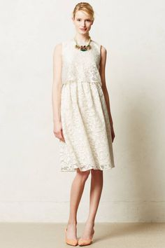 Magnolia Lace Dress Wedding Bridal By Alexandra Grecco Anthropologie, 2 Petite #Anthropologie #TeaDress #PartyCocktailFormal