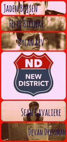 New District! Jaden, Felix, Dyl, Sean, and Devin! <3
