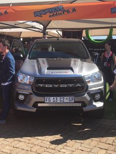 Toyota Hilux at the Raptor addict SA stand.