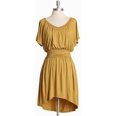 Autumn Days Asymmetrical Dress In Mustard ($37) ❤ liked on Polyvore featuring dresses, mustard, women, brown evening dress, rayon dress, stretch cocktail dress, mustard evening dress and asymmetrical cocktail dress