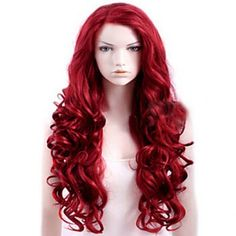 Attractive Red Long Deep Wave Synthetic Wig For Women (RED) in Synthetic Wigs   DressLily.com