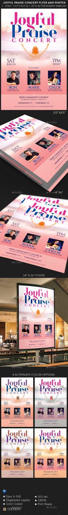 Joyful Praise Concert Flyer Poster Template - Church Flyers