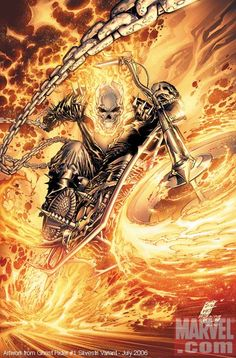 Ghost Rider Silvestri variant - by Marc Silvestri. Variant cover for the first issue of the current Ghost Rider ongoing series. Comic Book Artists, Comic Book Characters, Comic Book Heroes, Marvel Characters, Comic Character, Comic Books, Ghost Rider Johnny Blaze, Ghost Rider Marvel, Heros Comics