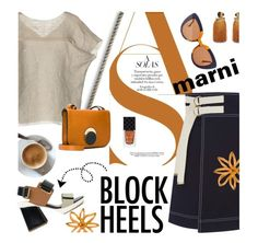 """Step Up: Block Heels"" by lacas ❤ liked on Polyvore featuring Marni, Zuhair Murad, Gucci, Lizzie Fortunato, marni and blockheels"