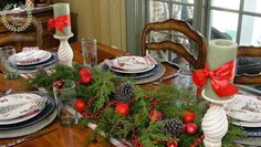Our Southern Home   French Country Casual Tablescape   http://www.oursouthernhomesc.com