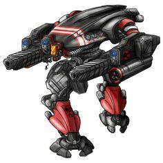Battletech art: Shelly Brubaker's Nightstar by Soku Yamashita Battle Robots, Mecha Suit, Fighting Robots, Iron Man Suit, Cyborgs, Robot Art, Nerdy Things, War Machine, Rpg
