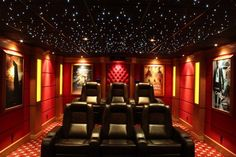 Design on a dime home theater: great idea to use the wasted space in an attic or basement.