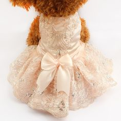 Cheap dress patterns prom dresses, Buy Quality dress up wedding dresses directly from China dress link Suppliers: Armi store Sequins Lace Embroidered Dog Dress Princess Wedding Dresses For Dogs 6073009 Pet Tutu Skirt Supplies XS S M L XL Dog Wedding Dress, Princess Wedding Dresses, Lace Wedding, Dog Dresses, Cute Dresses, Flower Girl Dresses, Dress Up, Pink Dress, Lace Dress