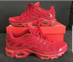"half off 94d39 8e83f Exclusive Nike Air Max Plus Tuned 1 Tn ""RED"