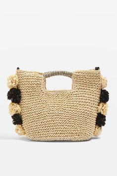 d5014d6a669d Bali Pom Straw Tote Bag - Summer Accessories - We Love - Topshop. Attic  Apartment