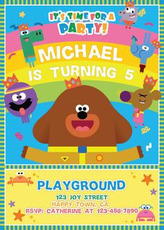 Hey Duggee Birthday Party | Hey Duggee Invitation Printable | Hey Duggee Party Supplies | Hey Duggee Party Ideas for Kids - get it here: www.bdayprints.com