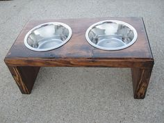 Small/ Medium Dog  Food & Water Stand by BurleyBiscuits on Etsy, $34.95