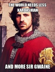 More Sir Gwaine by DandelionGirl43.deviantart.com> This means we turn off the crap television and go find out more about Eoin Macken then watch something else he is in...considering Sir Gwaine's reign is soon coming to end along with Merlin.