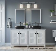 Vessel sinks are becoming an increasingly popular choice for bathrooms due to their eye-catching design and easy installation; making them a great and simple way to give your bathroom a modern facelift in a short time. Bathroom Renovations, Bathrooms, Modern Master Bathroom, Interior Decorating, Interior Design, Bathroom Styling, Bedroom Decor, Sinks, Simple