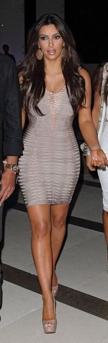 Kim Kardashian in Hervé Leger.