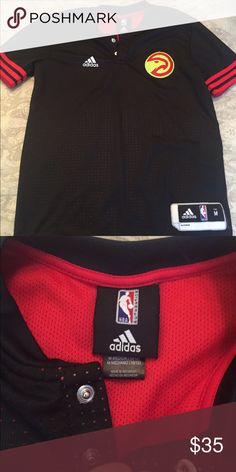 "Adidas Hawks Jersey EUC- worn once.  Hawks logo on front and ""ATLANTA"" on the back Adidas Shirts & Tops Tees - Short Sleeve"