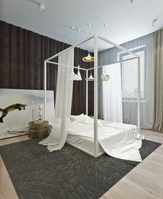 chambre de design ultra moderne avec lit baldaquin
