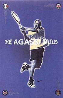 pretty nice 7e5c9 8d2bb Andre Agassi THE AGASSI RULES Tennis Poster - Nike Inc. 1997 - available at  www