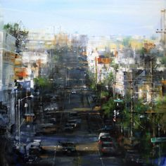 Mark Lague, Waterhouse Gallery, City Scenes, San Francisco, Mark Laguë, 2008 Exhibition, Impressionistic European Urban Landscapes, New York City, Manhattan, Italy, Rome, Haight Ashbury Hills, Haight Street