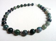 Statement necklace, aventurine gemstones by Mercy's Fancy