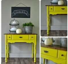 English Yellow Chalk Paint® | Stylish Patina Upcycled Furniture, Furniture Projects, Furniture Making, Furniture Makeover, Diy Furniture, Furniture Websites, Inexpensive Furniture, Furniture Companies, Do It Yourself Quotes