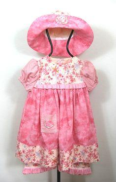 Pretty Posies Dress set size 2T @Ccooperdesigns  #Etsy