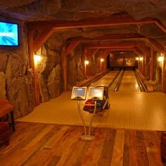 Reclaimed Beams & Flooring - eclectic - media room - denver - by Reclaimed DesignWorks Home Bowling Alley, Game Room Basement, Basement Ideas, Playroom, Transformers, Media Room Design, Pub, Man Cave Home Bar, Home Theater Design