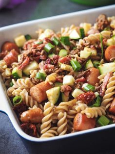Bacon, Soul Food, Food Dishes, Pasta Recipes, Pasta Salad, Tapas, Meal Prep, Healthy Living, Food Porn