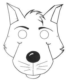 Molde de mascara de lobo en foami - Imagui