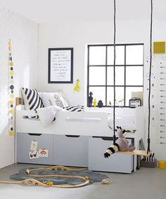 47 Modern Kids Room Design Ideas Thah Built In Beds - Each and every room of your home is undoubtedly very important and needs special care and attention in its decoration. Kids Room Organization, Childrens Room Decor, Kids Room Design, Kid Beds, Bunk Beds, Kid Spaces, Boy Room, Kids Bedroom, Bedroom Ideas
