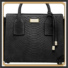 "NWT Kate Spade Elsie Street Exotic Meriwether  What a classic!!!  This is brand new with tags and still in the original wrapping.  The bag measures 10.1""h x 12.9""w x 6.2""d and drop length of 3.2"". The bag is matte snake with monza smooth leather trim, capital kate jacquard lining, 14-karat light gold plated hardware and tassle on front handle.   The top handle elbow bag with snap tab closure, double slide pockets and interior zip pocket with gold staple kate spade new york signature.  No…"