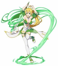 Arte Online, Online Art, Fantasy Characters, Anime Characters, Kirito, Leafa Sao, Character Art, Character Design, Sao Anime