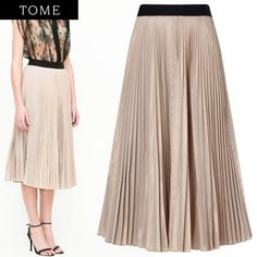 15SS☆PINK TAFFETA PLEATED SKIRT プリーツスカート☆TOME トム