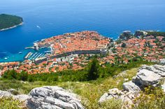 The old walled city of Dubrovnik, Croatia from Srdj Hill