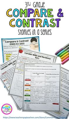 Are you looking for a way to teach your third graders how to compare and contrast stories in a series by the same author? This packet of original short stories from will help your 3rd graders master Common Core Standard RL.3.9.