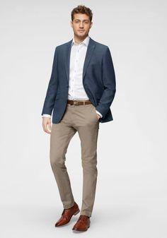 Chinos And Blazer Men, Blue Blazer Outfit Men, Blazer Outfits Men, Mens Fashion Blazer, Mens Fashion Wear, Stylish Mens Fashion, Swag Fashion, Dope Fashion, Fashion Pants